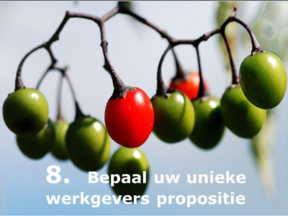 8. Bepaal uw unieke werkgevers propositie