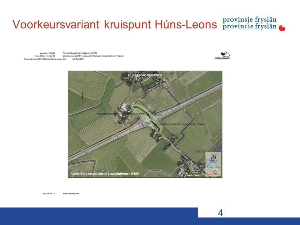 Voorkeursvariant kruispunt Húns-Leons 4