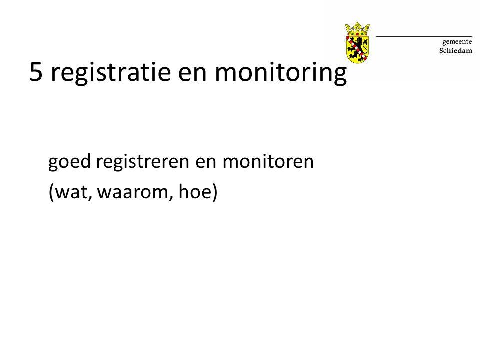 5 registratie en monitoring goed registreren en monitoren (wat, waarom, hoe)