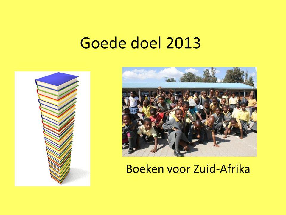 Goede doel 2013 Boeken voor Zuid-Afrika