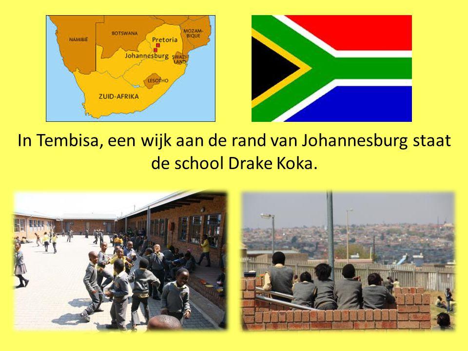 In Tembisa, een wijk aan de rand van Johannesburg staat de school Drake Koka.