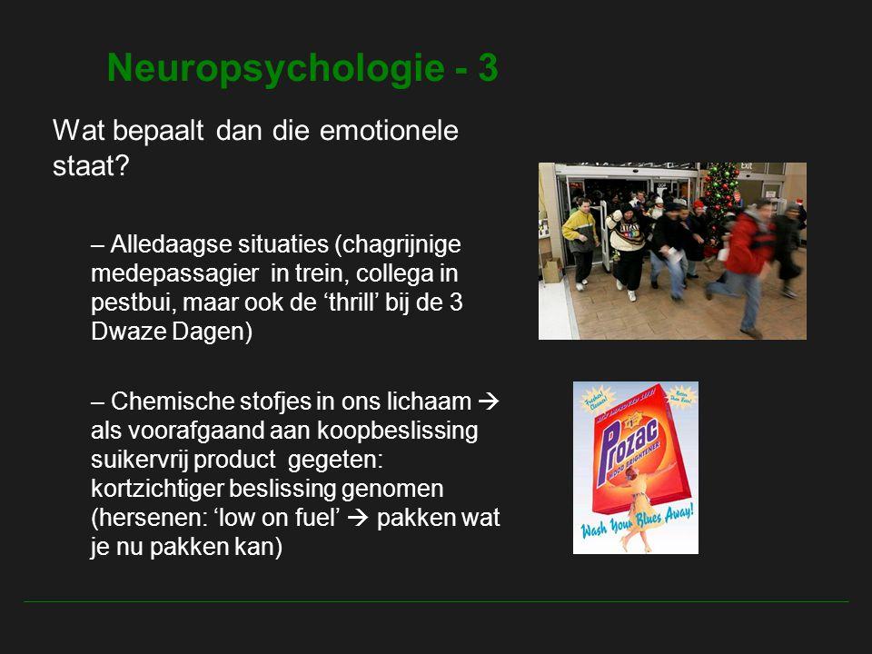 Neuropsychologie - 3 Wat bepaalt dan die emotionele staat.