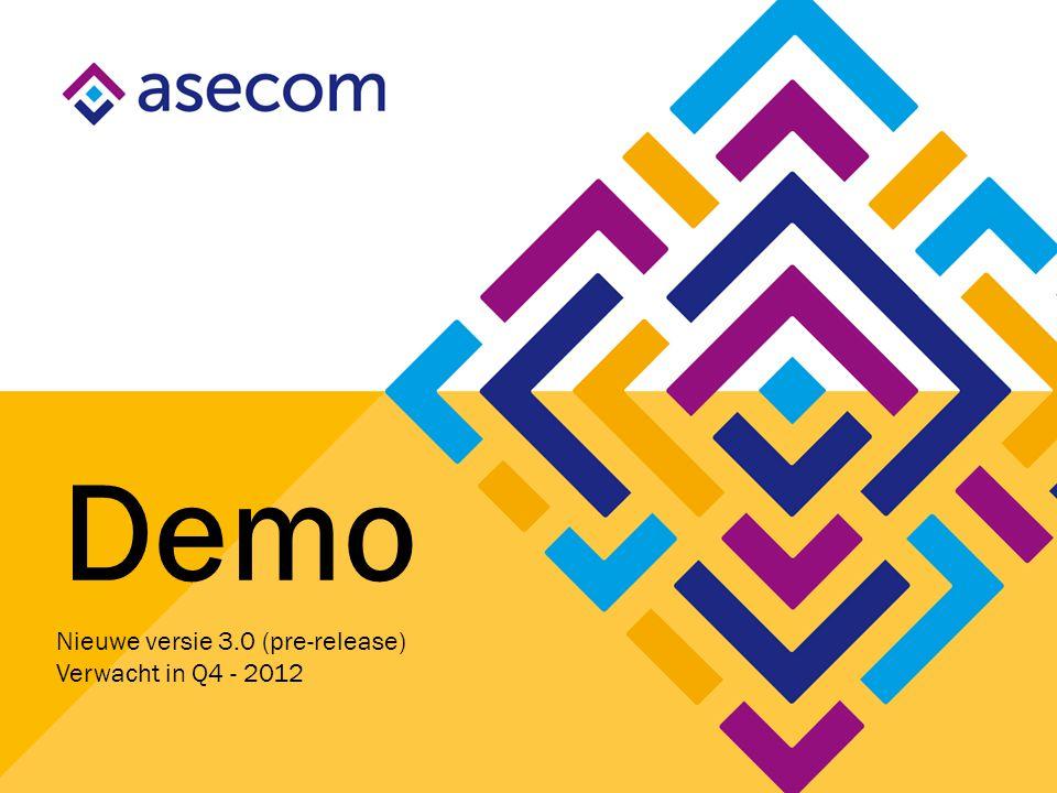Demo Nieuwe versie 3.0 (pre-release) Verwacht in Q4 - 2012