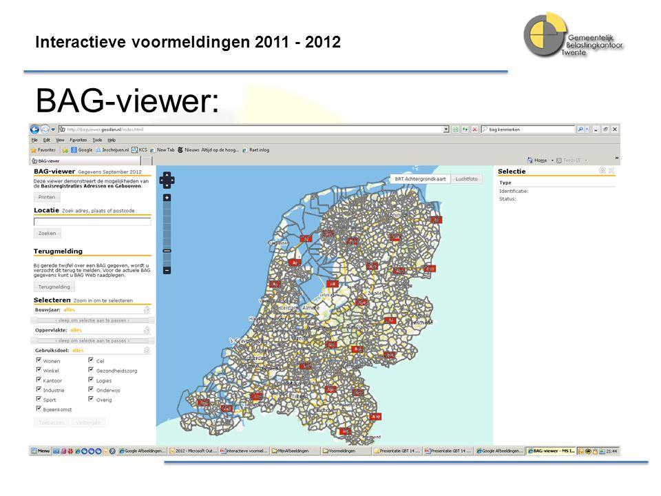 Interactieve voormeldingen 2011 - 2012 BAG-viewer: