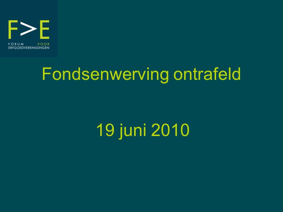 Fondsenwerving ontrafeld 19 juni 2010