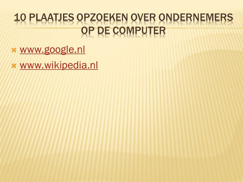  www.google.nl www.google.nl  www.wikipedia.nl www.wikipedia.nl