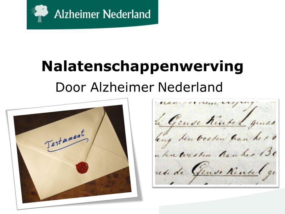 Nalatenschappenwerving Door Alzheimer Nederland
