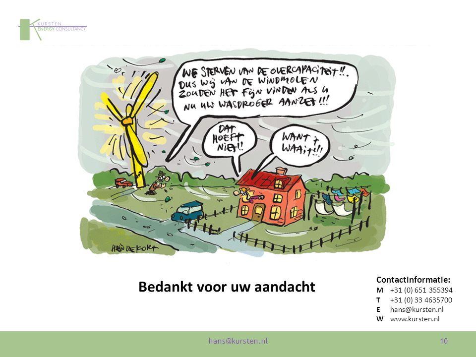 10 Bedankt voor uw aandacht Contactinformatie: M+31 (0) 651 355394 T+31 (0) 33 4635700 Ehans@kursten.nl Wwww.kursten.nl