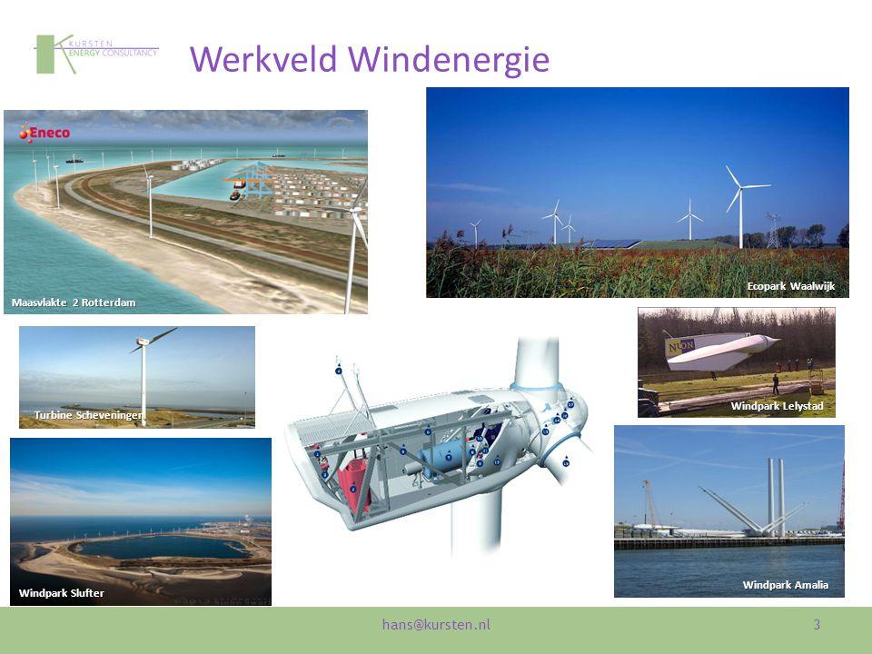 Werkveld Windenergie 3 Maasvlakte 2 Rotterdam Ecopark Waalwijk Windpark Amalia Windpark Slufter Turbine Scheveningen Windpark Lelystad hans@kursten.nl