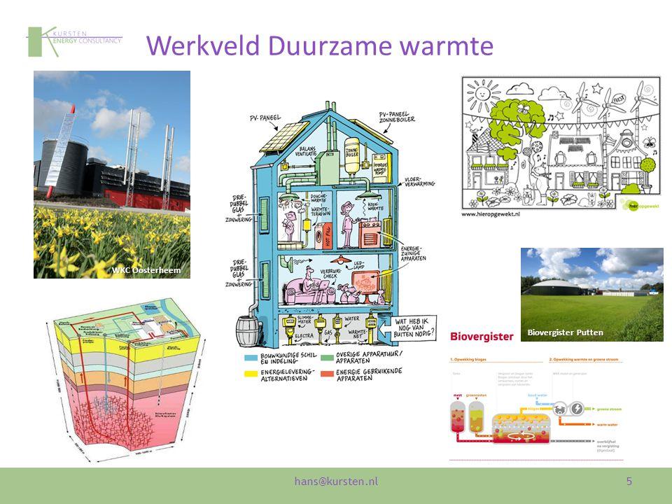Werkveld Duurzame warmte 5 WKC Oosterheem Biovergister Putten hans@kursten.nl
