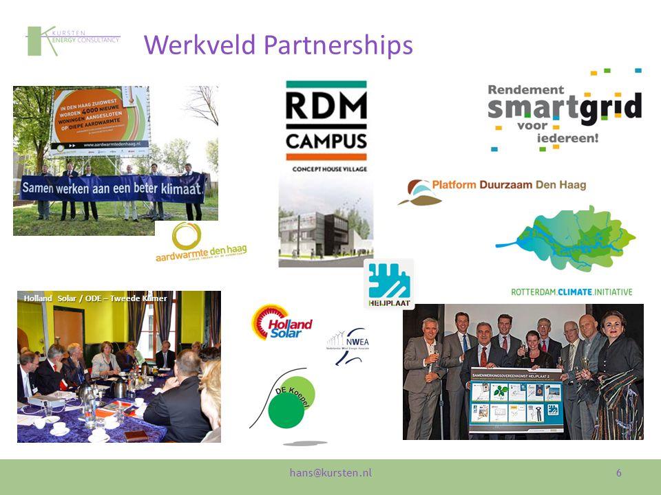Werkveld Partnerships 6 Holland Solar / ODE – Tweede Kamer hans@kursten.nl