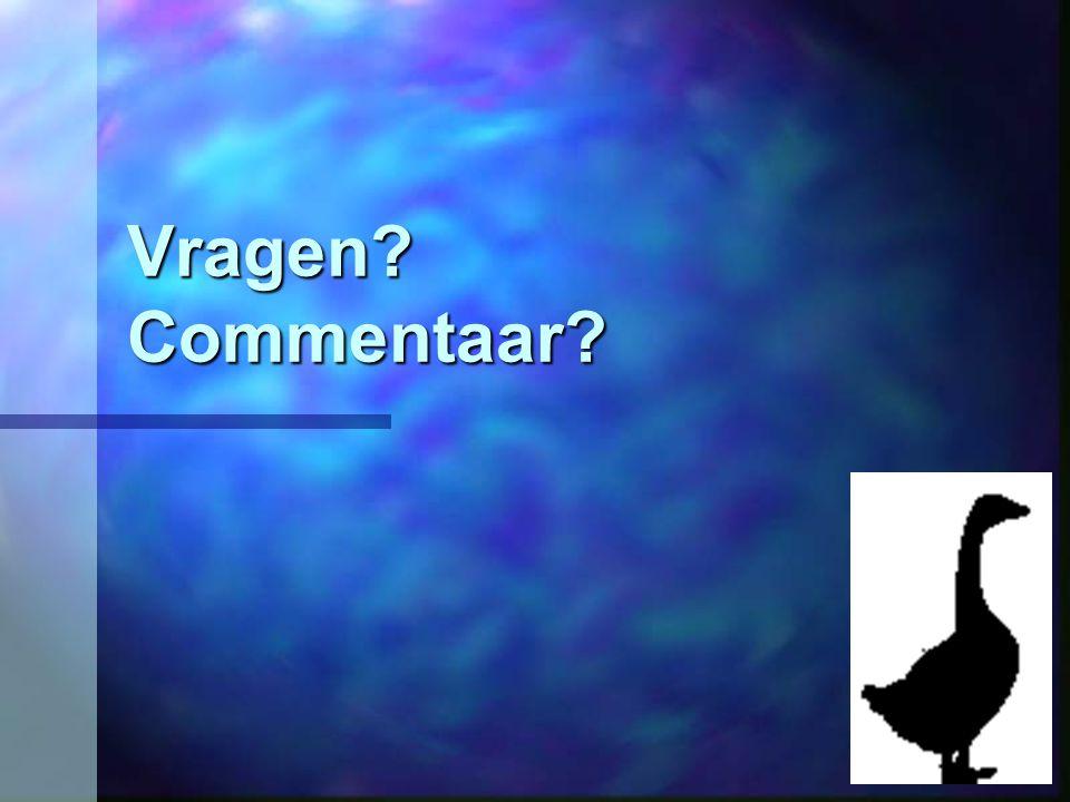 Vragen Commentaar