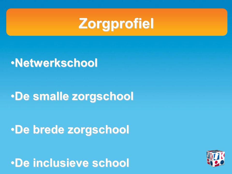 Zorgprofiel NetwerkschoolNetwerkschool De smalle zorgschoolDe smalle zorgschool De brede zorgschoolDe brede zorgschool De inclusieve schoolDe inclusie