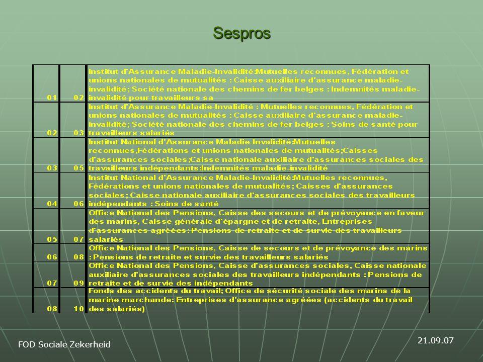 Sespros FOD Sociale Zekerheid 21.09.07