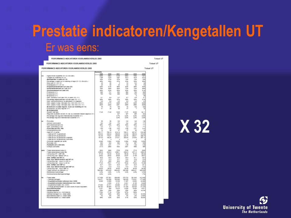 Prestatie indicatoren/Kengetallen UT X 32 Er was eens: