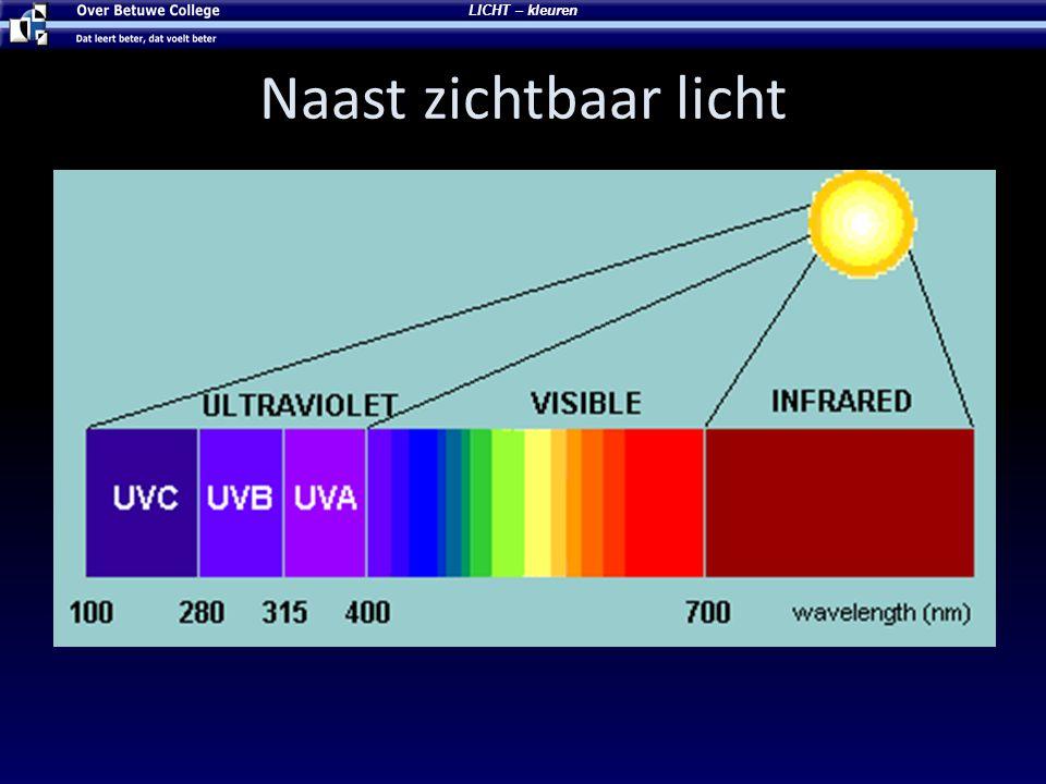 Naast zichtbaar licht LICHT – kleuren
