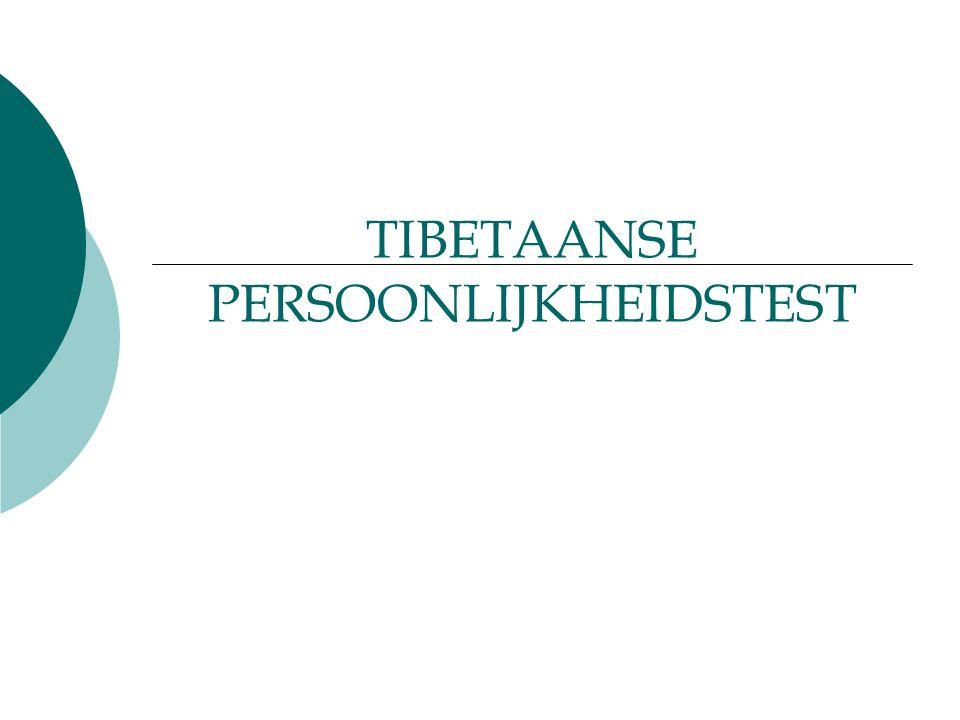TIBETAANSE PERSOONLIJKHEIDSTEST