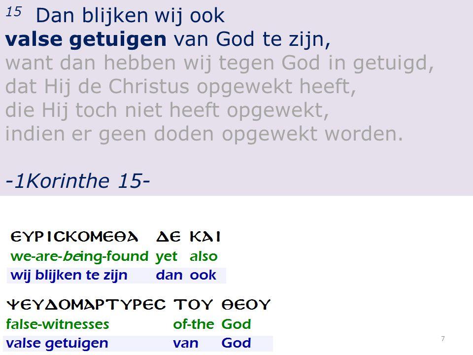 Tweede samenkomst: 1.Het Nieuwe Testament als gedocumenteerd getuigenbewijs.