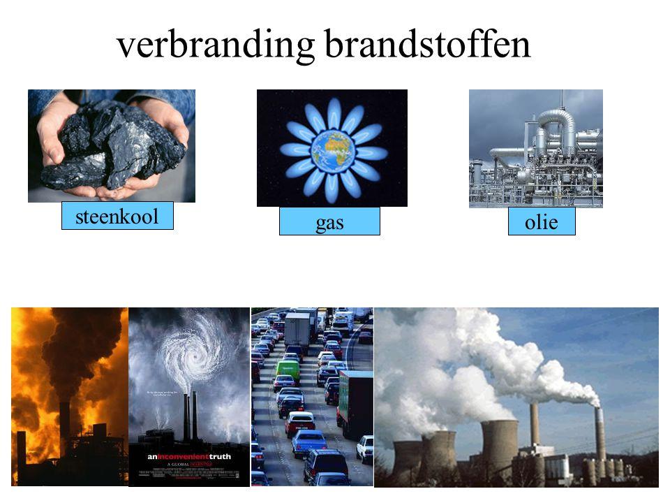 verbranding brandstoffen steenkool gasolie