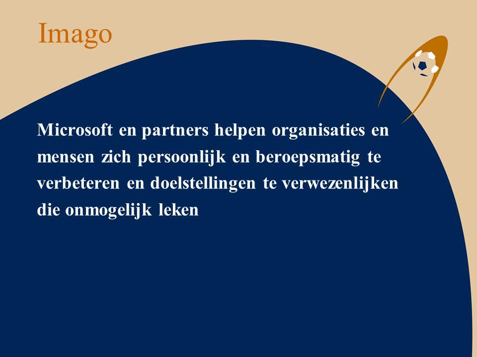 Imago Microsoft en partners helpen organisaties en mensen zich persoonlijk en beroepsmatig te verbeteren en doelstellingen te verwezenlijken die onmog