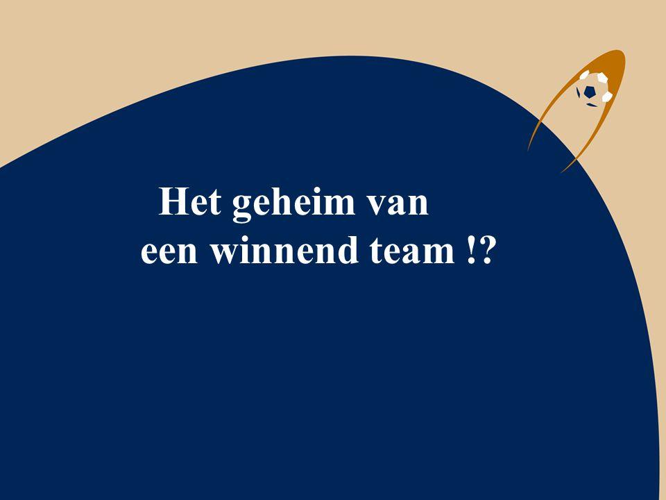 Het geheim van een winnend team !?