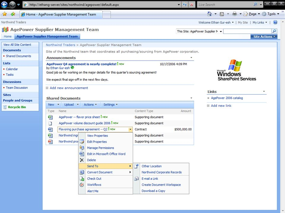 Voorbeeld van standaard workflow