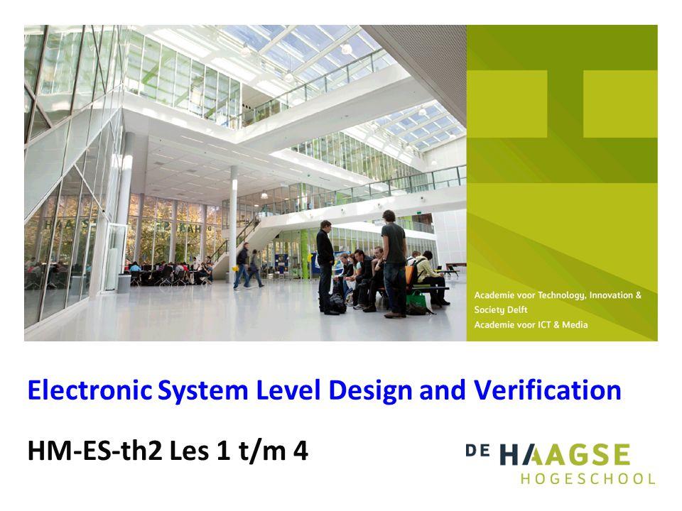 HM-ES-th2 Les 1 Electronic System Level Design and Verification