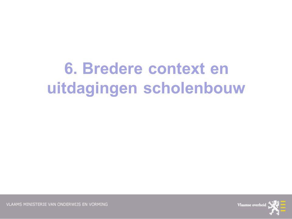 6. Bredere context en uitdagingen scholenbouw