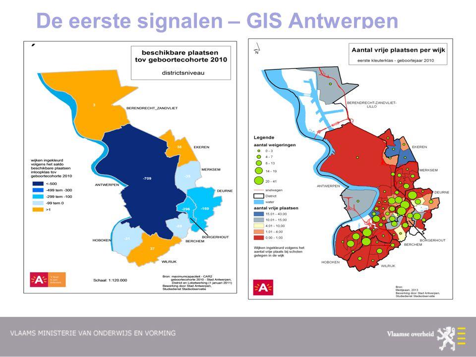 De eerste signalen – GIS Antwerpen