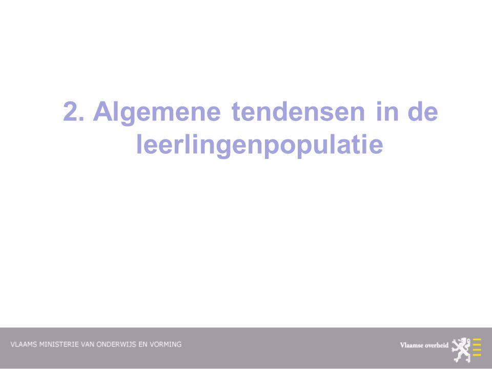 2. Algemene tendensen in de leerlingenpopulatie