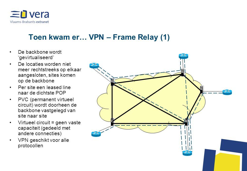 IP VPN met tunneling naar centraal punt in het netwerk