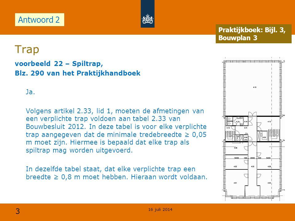 3 Trap voorbeeld 22 – Spiltrap, Blz.290 van het Praktijkhandboek Ja.