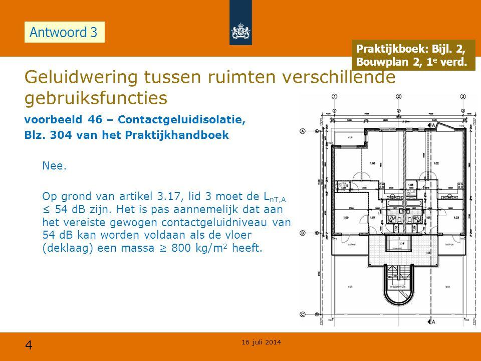 4 Geluidwering tussen ruimten verschillende gebruiksfuncties voorbeeld 46 – Contactgeluidisolatie, Blz.