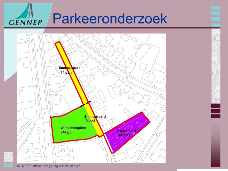 20091207: Parkeren omgeving Wilhelminaplein Parkeeronderzoek (44 pp.) (5 pp.) (45 pp.) (14 pp.)