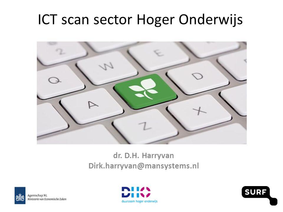 ICT scan sector Hoger Onderwijs dr. D.H. Harryvan Dirk.harryvan@mansystems.nl