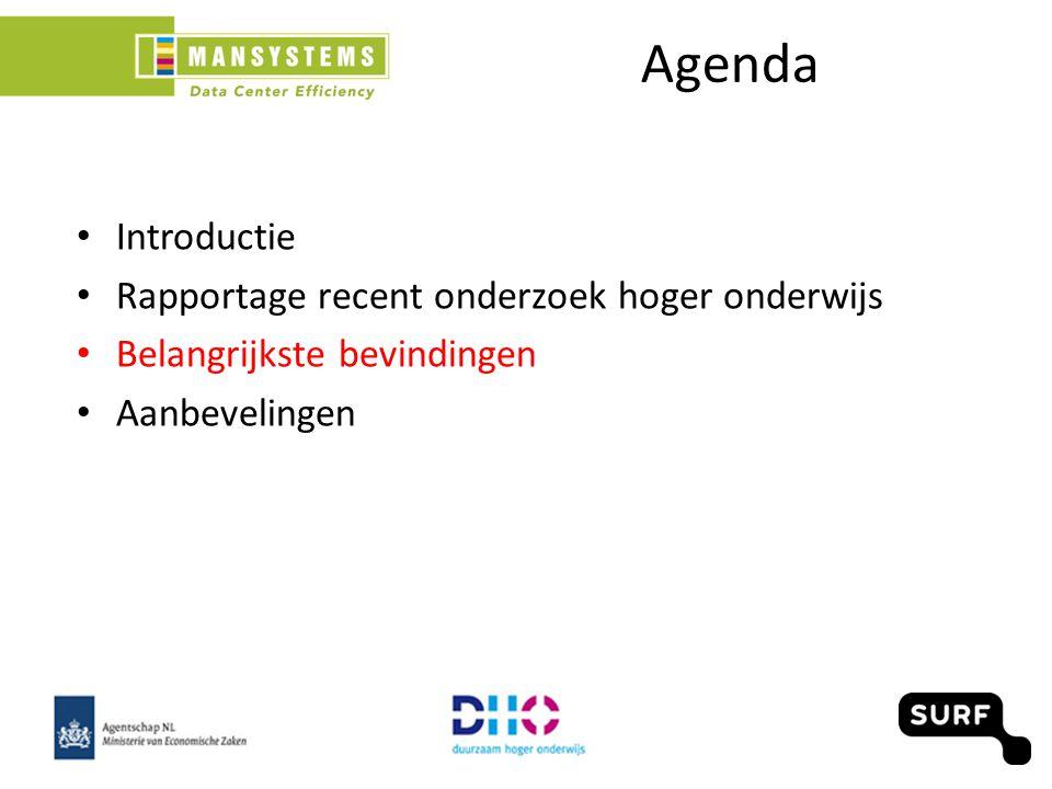 Introductie Rapportage recent onderzoek hoger onderwijs Belangrijkste bevindingen Aanbevelingen Agenda