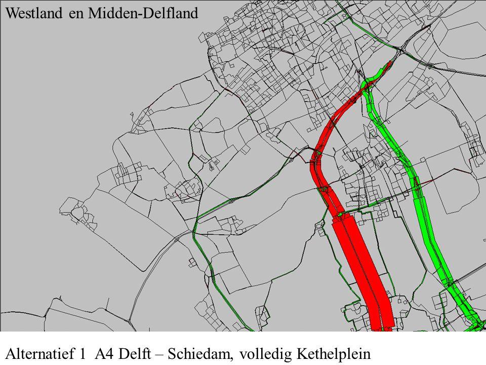 Alternatief 1 A4 Delft – Schiedam, volledig Kethelplein Westland en Midden-Delfland