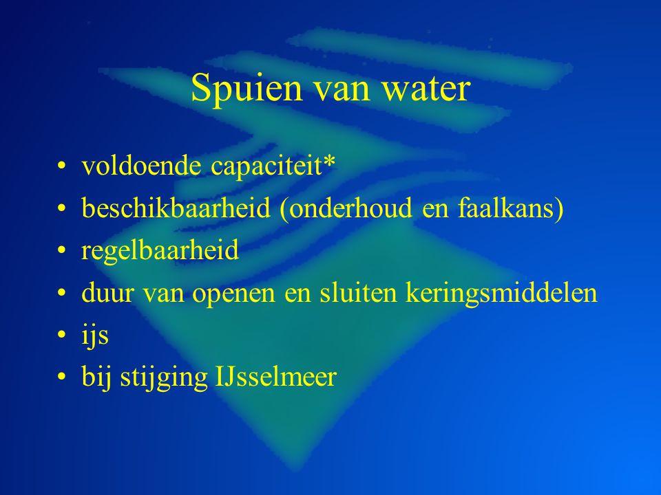 Keren van water constructieve faalkans faalkans niet sluiten TAW richtlijn invloed MHW zoutbezwaar overloop en overslag zoutbezwaar