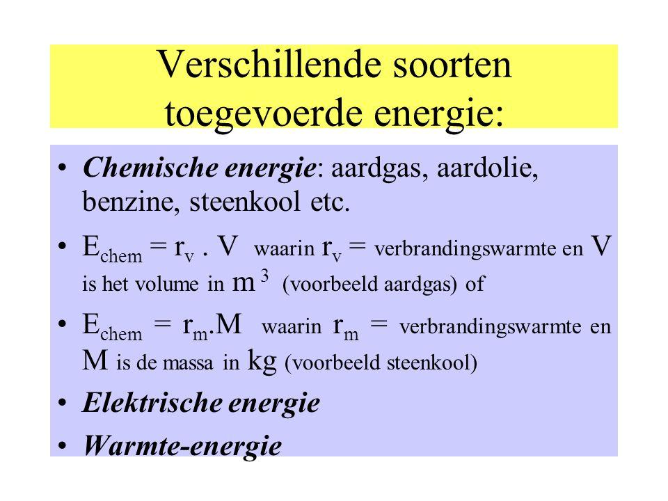 In formule; (zie ook BB(10)) Q = C.  T Energie ( warmte ) in Joules Warmte- Capaciteit in J/°C Temperatuurs verschil in °C