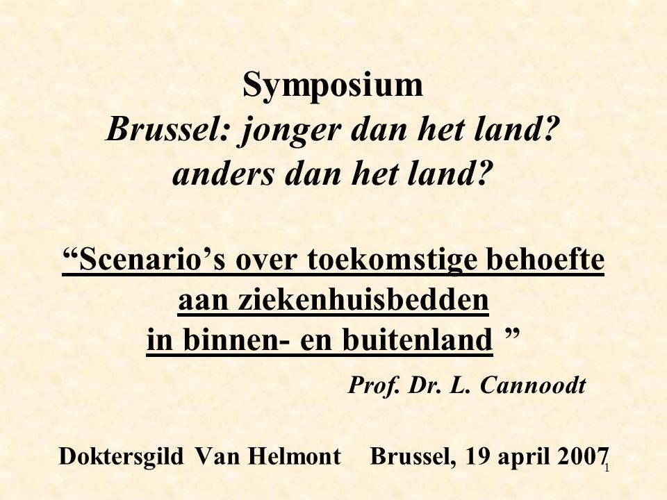 1 Symposium Brussel: jonger dan het land. anders dan het land.