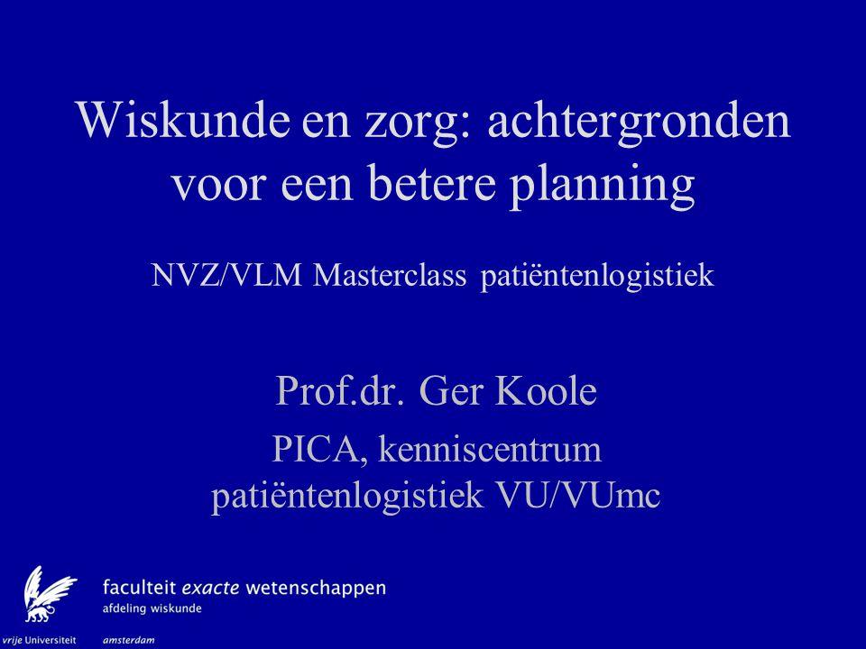 Validatie Erlang B model Erlang B modelleert niet: Seizoenseffecten Weekeffecten Ad hoc beslissingen t.a.v.