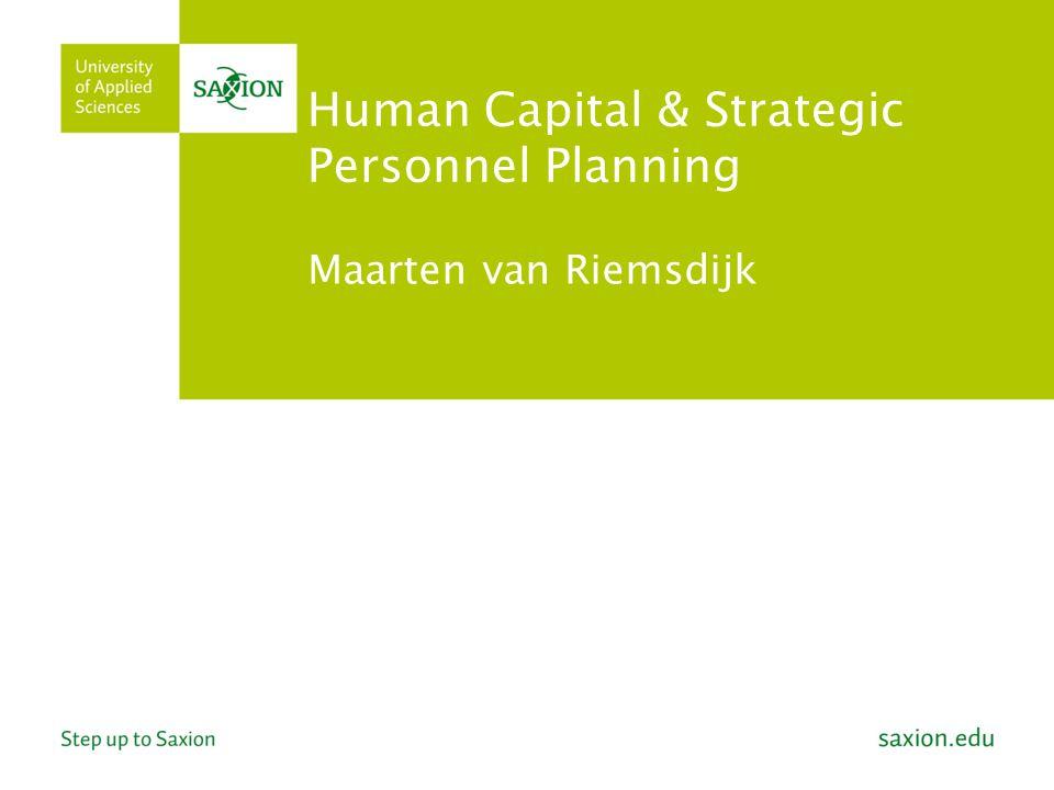 2 Outline Doel vandaag Introductie HCT Lepak & Snell Verkenning