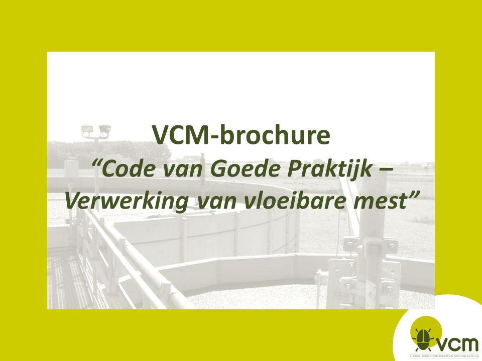 """VCM-brochure """"Code van Goede Praktijk – Verwerking van vloeibare mest"""""""