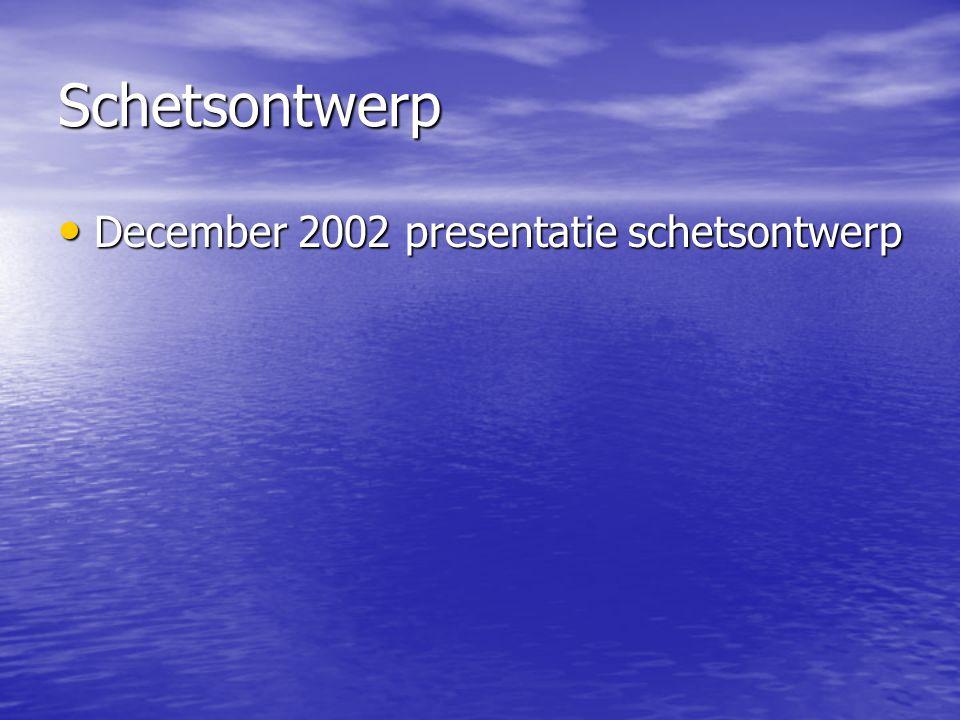 Schetsontwerp December 2002 presentatie schetsontwerp December 2002 presentatie schetsontwerp