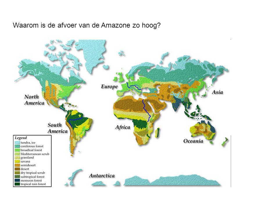 Waarom is de afvoer van de Amazone zo hoog?