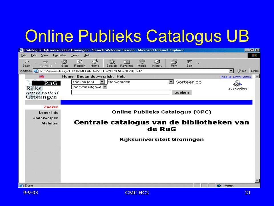 9-9-03CMC HC221 Online Publieks Catalogus UB