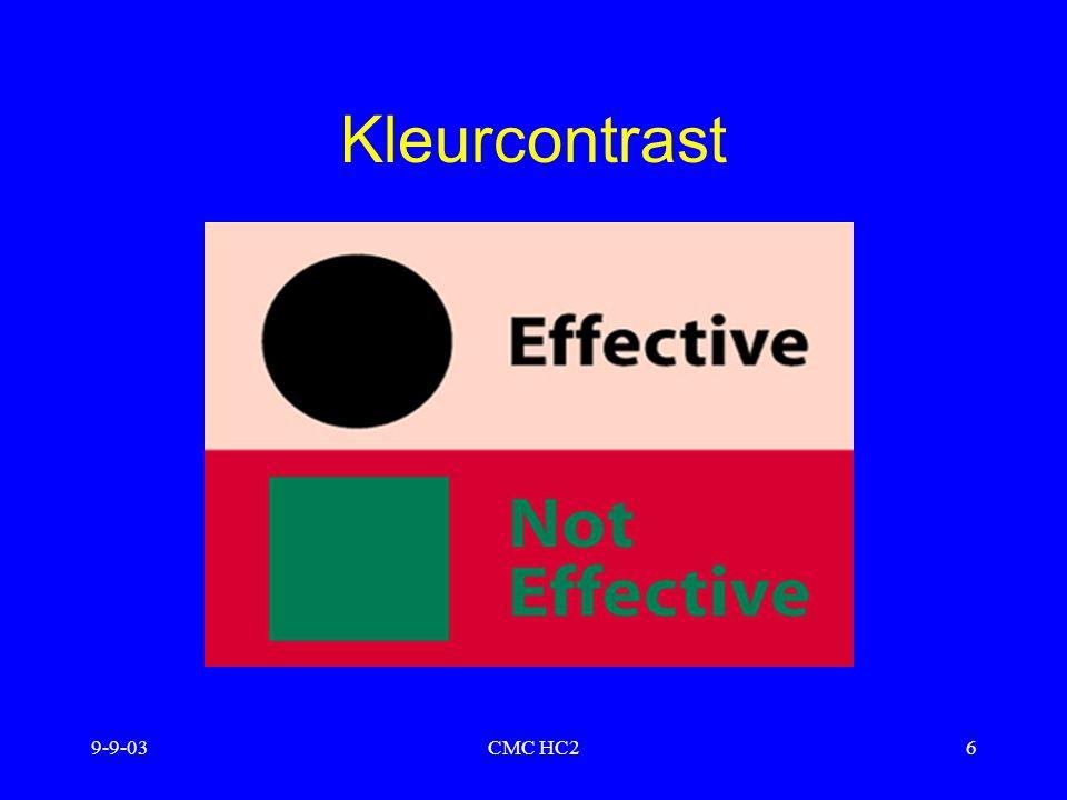 9-9-03CMC HC26 Kleurcontrast