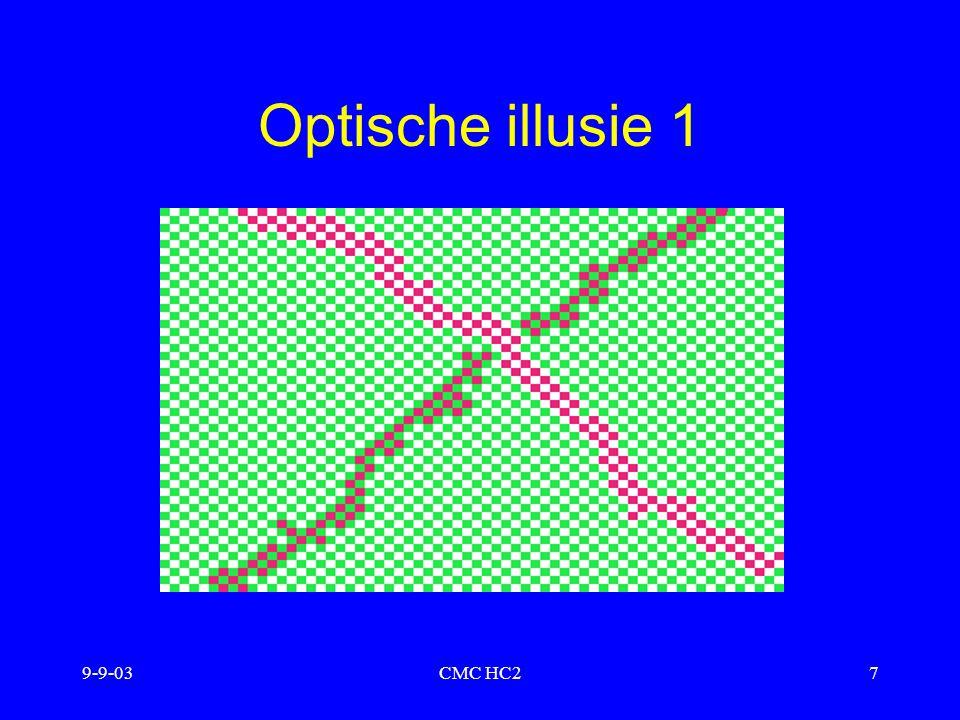 9-9-03CMC HC218 Geheugenoptimalizatie meerdere coderingen plaatjes vs.
