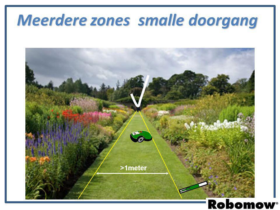 >1meter Meerdere zones smalle doorgang