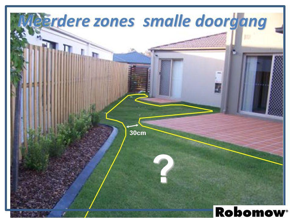 30cm ? Meerdere zones smalle doorgang